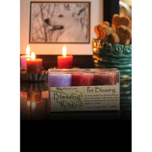 Pet Blessing ~ Blessed Herbal Candles Blessing Kit