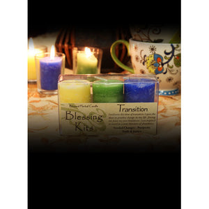 Transition Blessing ~ Blessed Herbal Candles Blessing Kit