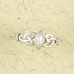 Celtic Weave with Inlay Sterling Silver Ring