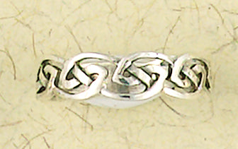 Celtic Weave Band Sterling Silver Ring