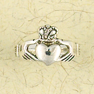 Claddagh Heart Sterling Silver Ring
