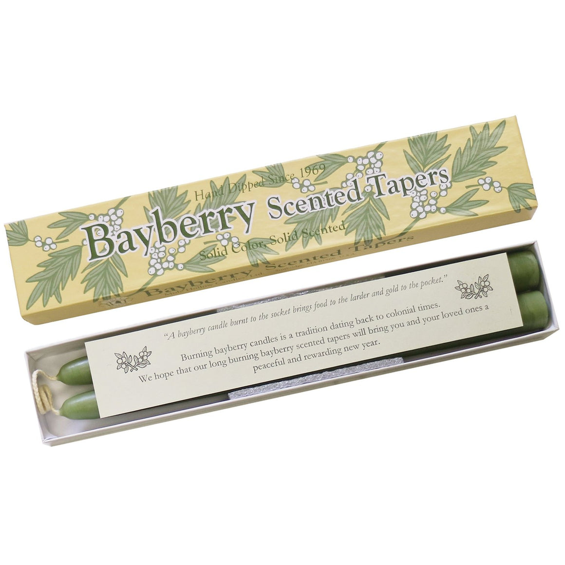Bayberry Taper Candles, Single-Pair Gift Box