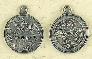 Celtic Astrology ~ Saille ~ Pewter Necklace