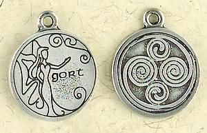 Celtic Astrology ~ Gort ~ Pewter Necklace