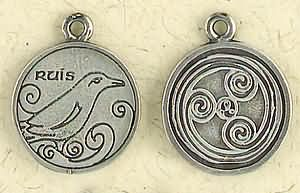 Celtic Astrology ~ Ruis ~ Pewter Necklace