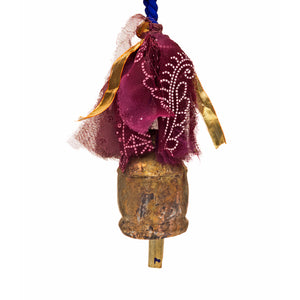 Long Sari and Song Hanging Bell Chimes Handcrafted in India