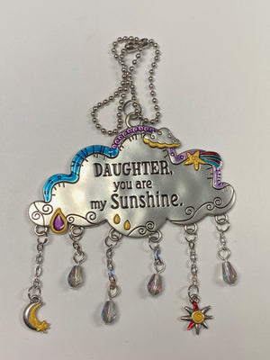 Daughter You Are My Sunshine Cloud Car Charm