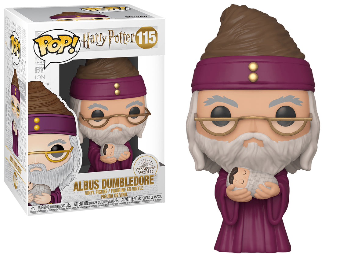 Funko Pop Vinyl Figurine Albus Dumbledore with baby Harry Potter #115