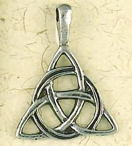 Celtic Weave Triangle ~ Pewter Necklace ~ Eire, The Celtic Collection