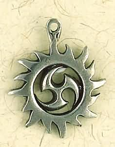 Talisman Of the Sacred Three Sun ~ Pewter Necklace ~ Eire, The Celtic Collection