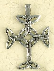 Celtic Infinity Cross with Circle ~ Pewter Necklace ~ Eire, The Celtic Collection