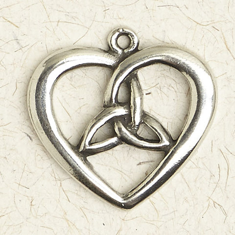 Celtic Heart with Center Weave ~ Pewter Necklace ~ Eire, The Celtic Collection