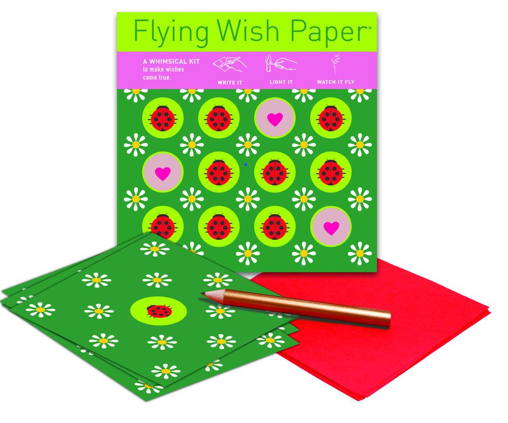 Ladybugs Mini Flying Wish Paper Kit