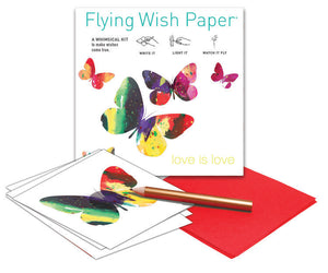 Love Is Love Butterflies Mini Flying Wish Paper Kit