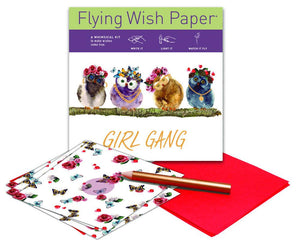 GIRL GANG Mini Flying Wish Paper Kit