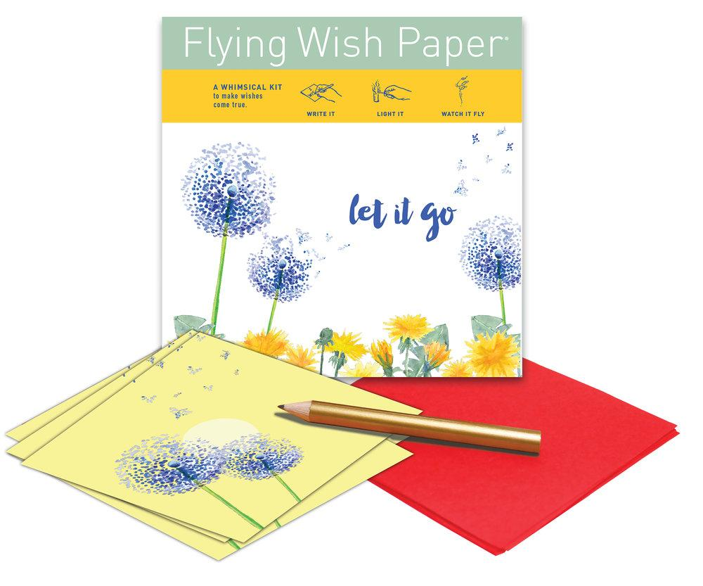 LET IT GO Mini Flying Wish Paper Kit