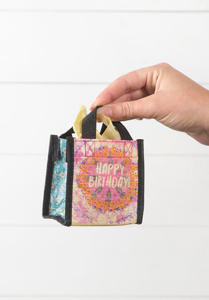 Happy Birthday Tiny Recycled Happy Bag (XS)