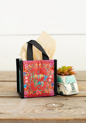 Red Floral Tiny Recycled Happy Bag (XS)