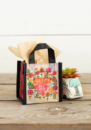 Watercolor Flowers Tiny Recycled Happy Bag (XS)