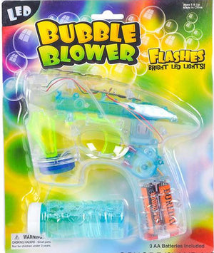 "7"" Transparent Light-up Bubble Blaster"