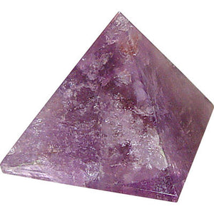 Gemstone Carved Pyramid - Amethyst