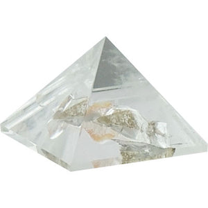 Gemstone Carved Pyramid - Clear Quartz