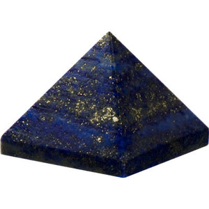 Gemstone Carved Pyramid - Lapis