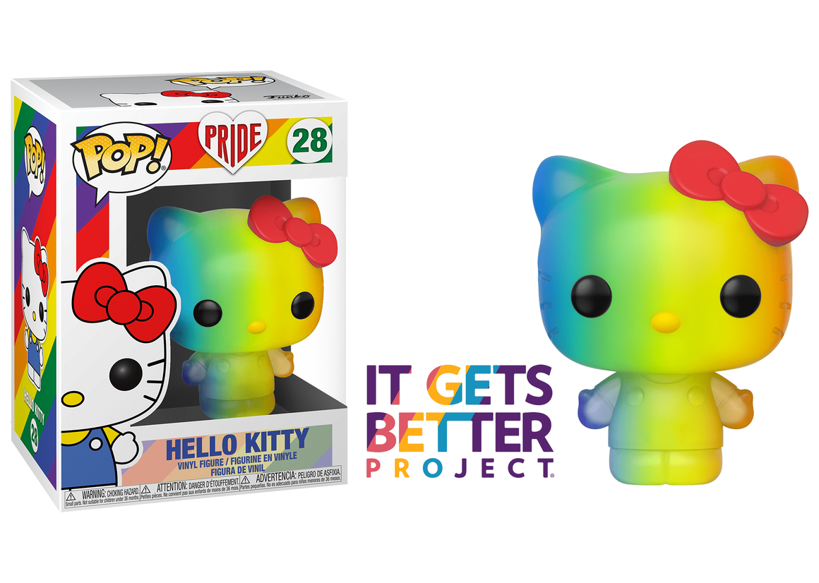 Funko Pop Vinyl Figurine Hello Kitty PRIDE #28 - It Gets Better Project