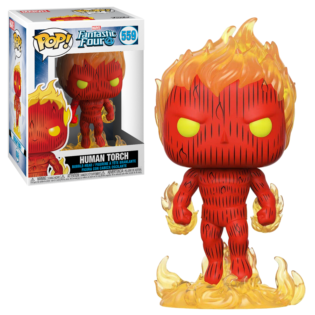 Funko Pop Vinyl Figurine The Human Torch #559 - Marvel The Fantastic Four