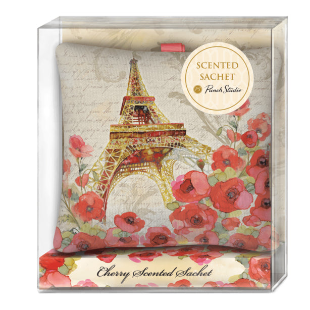Paris Sparkle Square Poofy Fabric Sachet