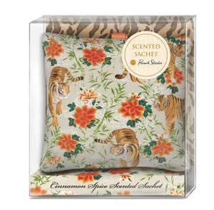 Tigers Square Poofy Fabric Sachet