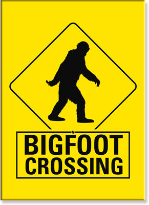 Bigfoot Crossing Magnet