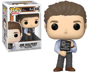 Funko Pop Vinyl Figurine Jim Halpert with Nonsense Sign #1046 - The Office