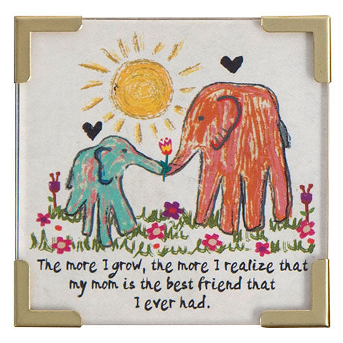 """The More I Grow..."" Mom Best Friend Magnet"
