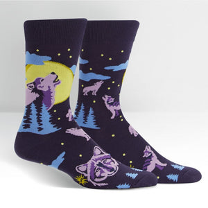 Wolf Moon Men's Crew Socks