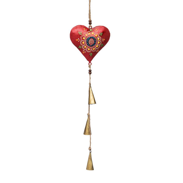 Henna Treasure Heart Bell Chime