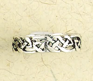 Celtic Weave Sterling Silver Band