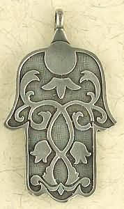 The Hamsa ~ Pewter Necklace ~ Mitzvah, The Hebrew Collection