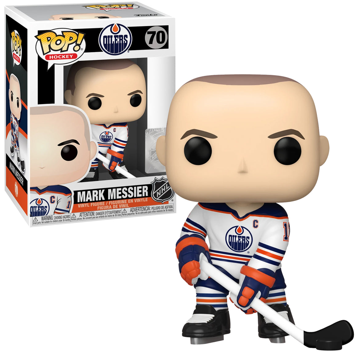 Funko Pop Vinyl Figurine Mark Messier #70 - NHL Edmonton Oilers