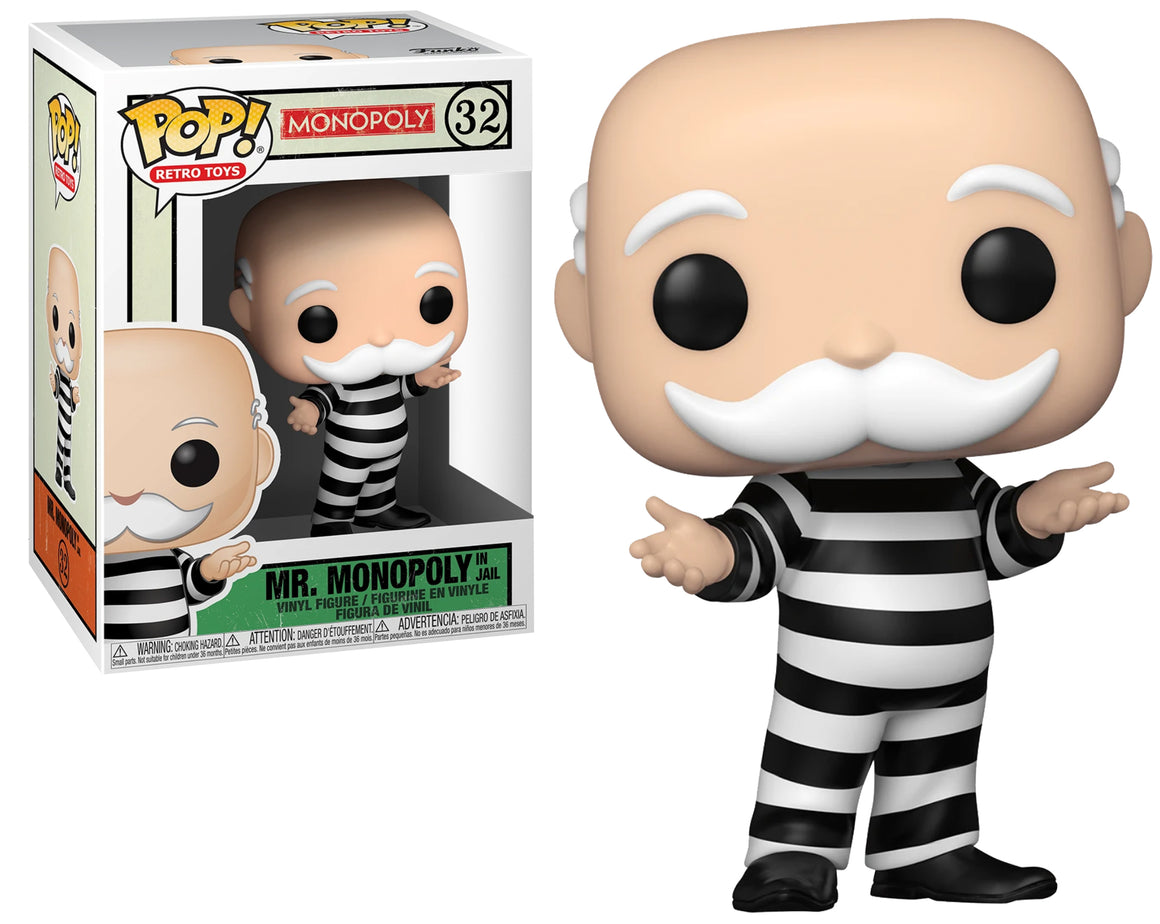 Funko Pop Vinyl Figurine Criminal Uncle Pennybags in Jail #32 - Monopoly