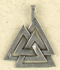 Valknut ~ Pewter Necklace ~ Odin, The Norse Collection