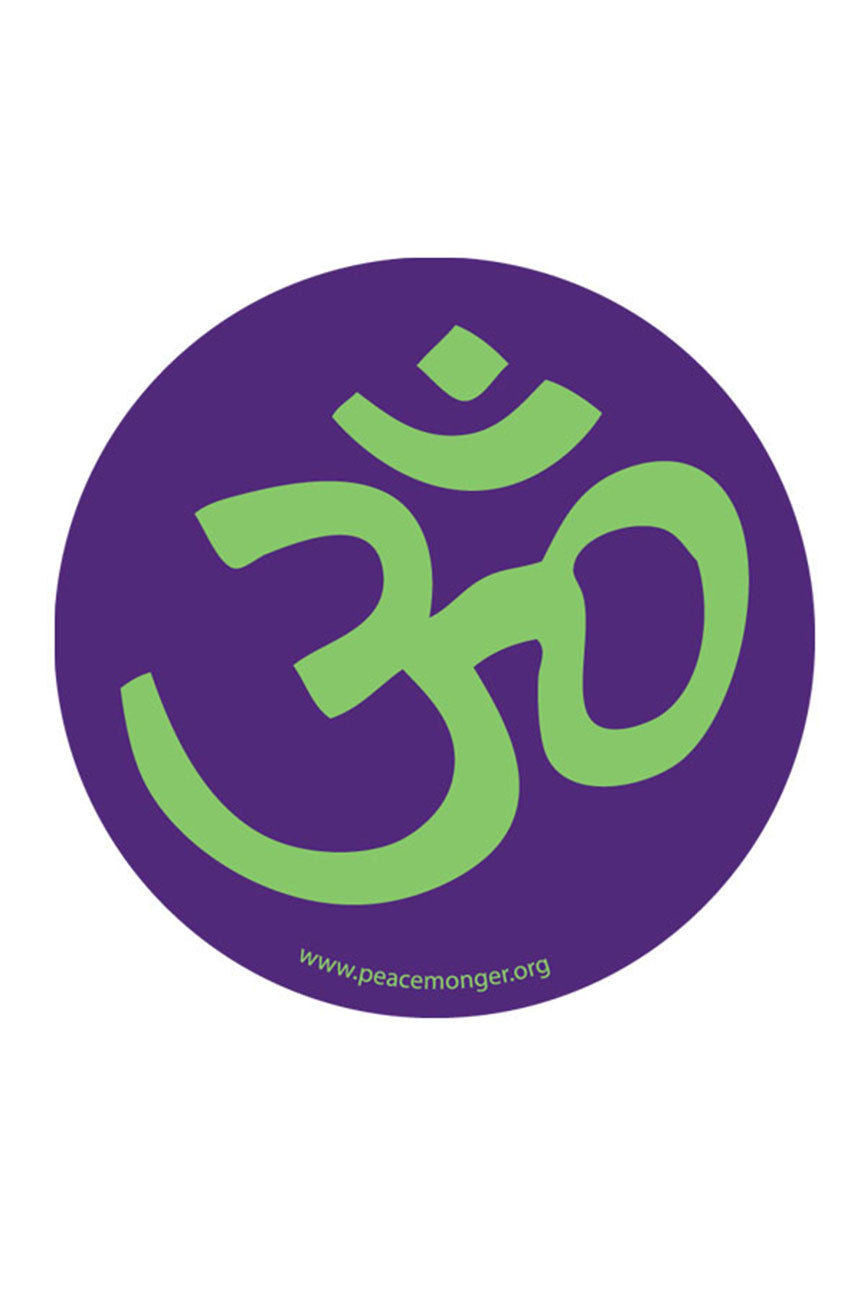 Om Symbol Circle Bumper Sticker ~ Yoga