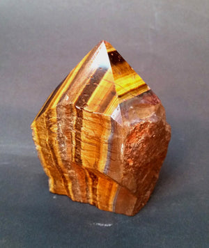 Tiger Eye Point with Natural Sides