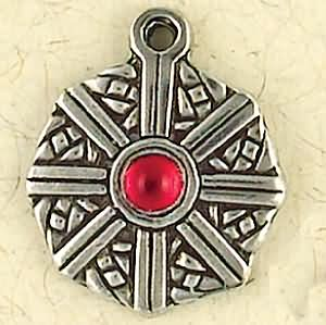 Cuartich, The Compass ~ Pewter Necklace ~ Trionaid, Mystical Celtic Knots Collection