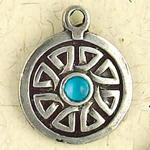 Roth, The Wheel ~ Pewter Necklace ~ Trionaid, Mystical Celtic Knots Collection