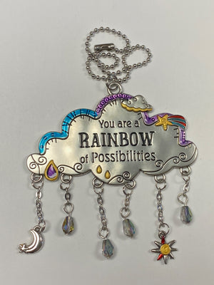 You Are A Rainbow of Possibilities Cloud Car Charm