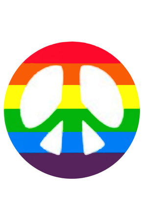 Rainbow Peace Cut-out Sticker - LGBTQIA+ rights ~ Peace & Love & Joy Vinyl Decal