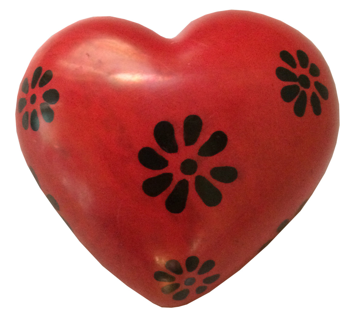 Heart-Shaped Stone Paperweights