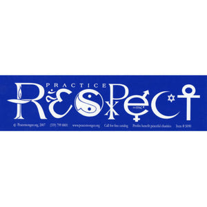 RESPECT Bumper Sticker - Multifaith Interfaith Vinyl Decal