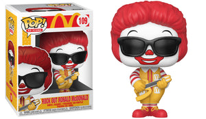 Funko Pop Vinyl Figurine Rock Out Ronald McDonald #109 - McDonald's